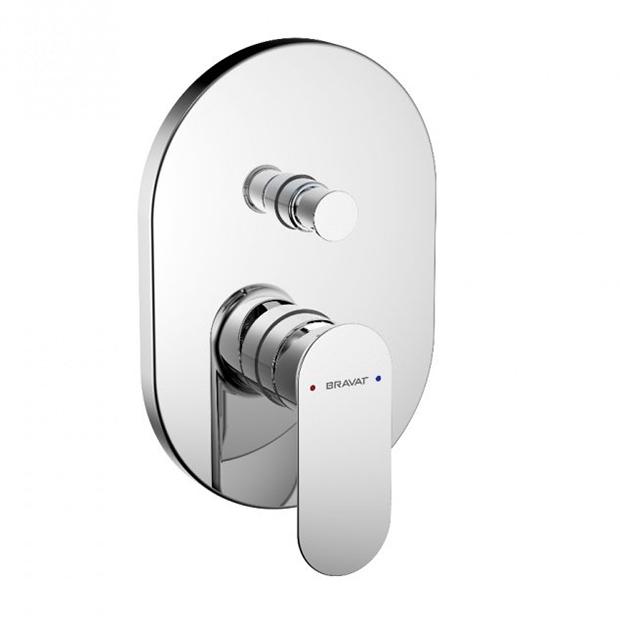 Смеситель Bravat Gina PB865104CP-2-ENG для ванны встраиваемая часть смесителя bravat d999cp eng