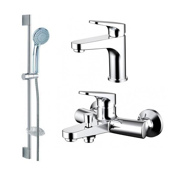Душевой набор Bravat Eler 3 в 1 F00450CP hideep 3 отверстия смеситель для ванной комнаты латунный смеситель для ванной комнаты
