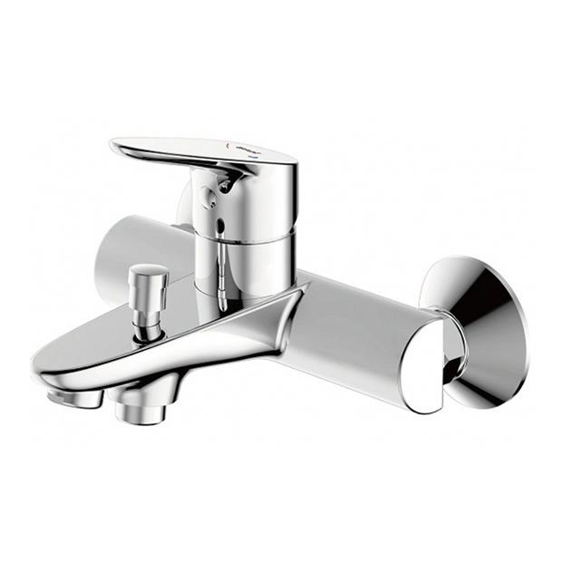 Смеситель Bravat Drop F64898C-01А для ванны смеситель для ванны коллекция drop f64898c l однорычажный хром bravat брават