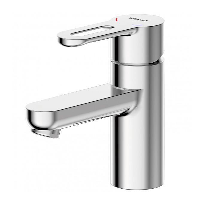Смеситель Bravat Stream-D F137163C для раковины смеситель для биде коллекция drop d f348162c однорычажный хром bravat брават