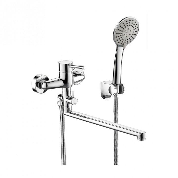 Смеситель Bravat Slim TF6332366CP-01L-RUS для ванны смеситель для ванной cron cn2201 хром