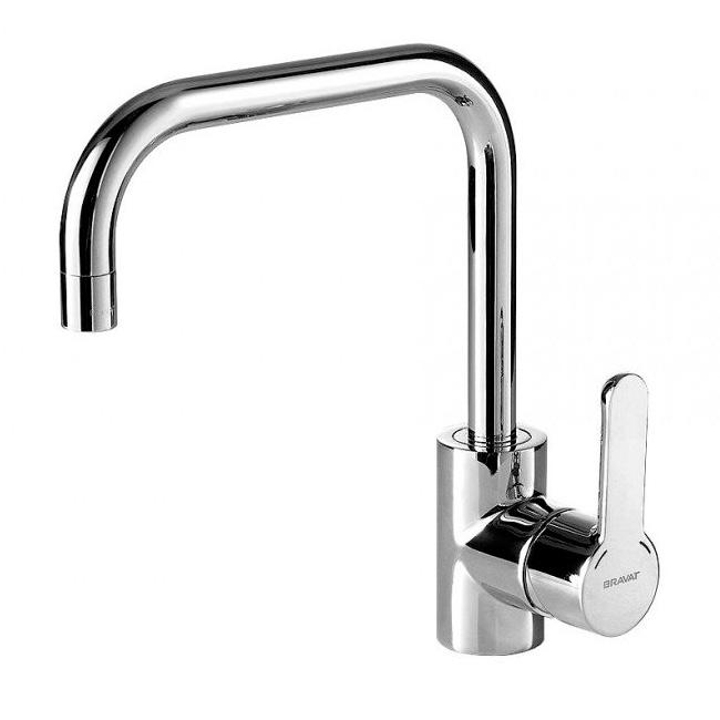 Смеситель Bravat Stream F73783C 1 для кухни смеситель для кухни vidima уно с литым поворотным изливом ba241aa