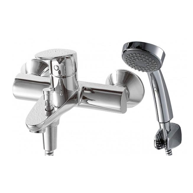 Смеситель Bravat Drop F64898C B/D244C для ванны смеситель для ванны коллекция drop f64898c l однорычажный хром bravat брават