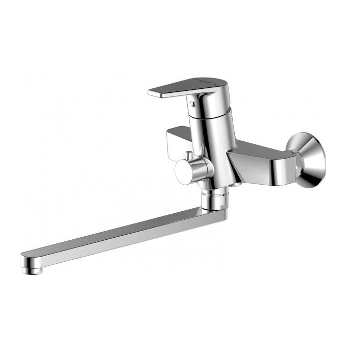 Смеситель Bravat Line F65299C 1L для ванны смеситель для ванны коллекция drop f64898c l однорычажный хром bravat брават