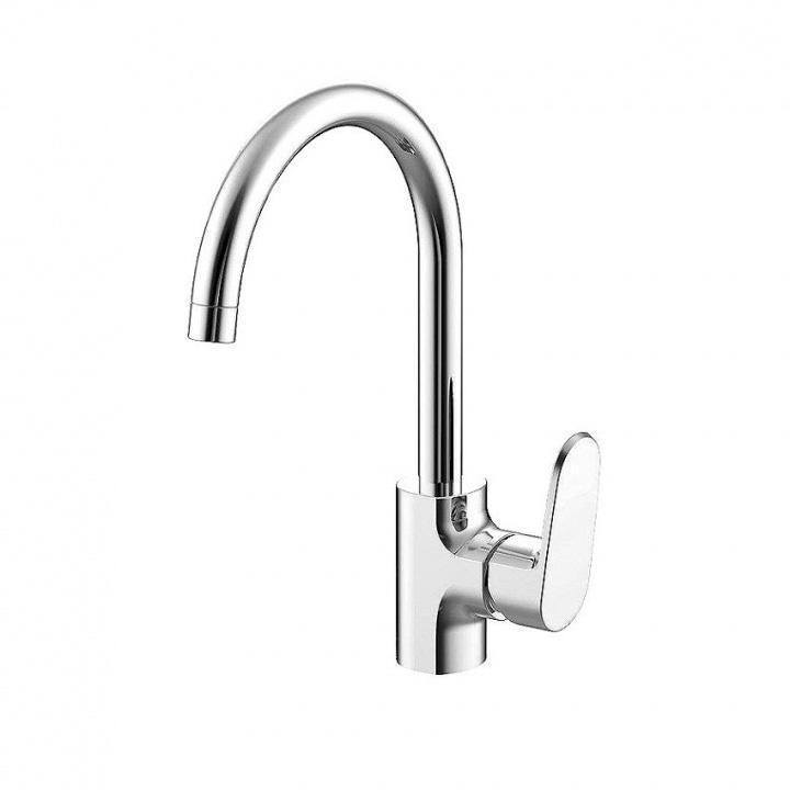 Смеситель Bravat Pure F7105161C для кухни смеситель для кухни vidima уно с литым поворотным изливом ba241aa