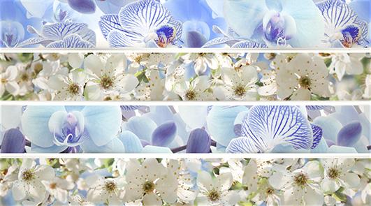 Dec Mosaic Blue Декор КВС16MosaicBlue 25х45 dec candles 3 декор квс16candles3 25х45