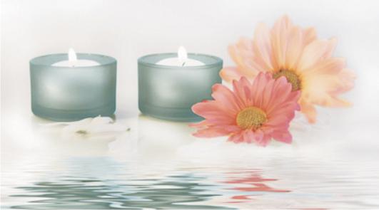 Dec Candles 4 Декор КВС16Candles4 25х45 flower candles print waterproof shower curtain