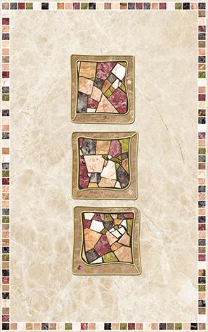 Illyria estilo trio Декор 25х40 бордюр ceramica classic tile illyria beige 5x30