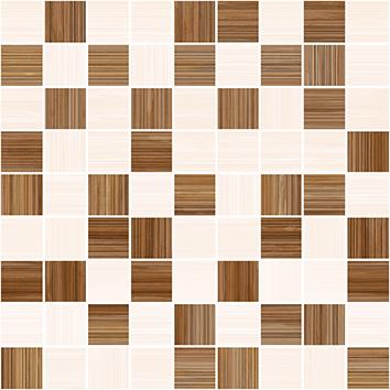 Stripes Мозаика т.бежевый+бежевый 30х30 - копия бордюр ceramica classic tile stripes бордо 5x50