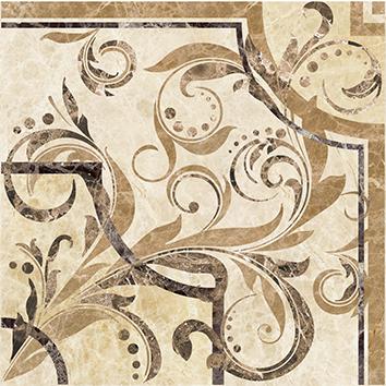 Illyria vendom marrone Вставка напольная 30х30 бордюр ceramica classic tile illyria marrone 8x25