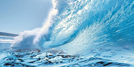 Water Декор D1D224 40х20 декор venus ceramica aria cenefa beige 3x50