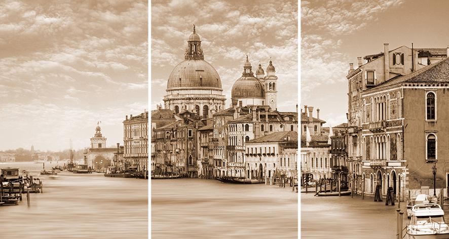 Venice Панно стекло из 3-х плиток 75х40 цена