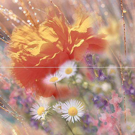 Flowers Панно P2-2D205 40х40 (из 2 плиток) панно ceracasa brazil deco rock flowers nieve 25x73 комплект