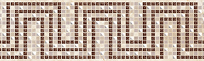 Illyria mosaic Бордюр 7,5x25 бордюр ceramica classic tile illyria marrone 8x25