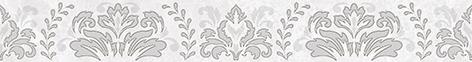 Afina Damask Бордюр серый 56-03-06-456 5х40 бордюр keros ceramica fresh cen multicolor 5х40