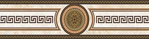 Illyria classic-1 Бордюр 6,2x25 бордюр ceramica classic tile illyria marrone 8x25