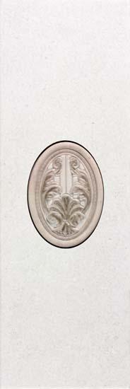 Sinai Inserto Ivory Декор в комплекте 200х592 мм/9 декор articer modena inserto perla bordeaux 20x56