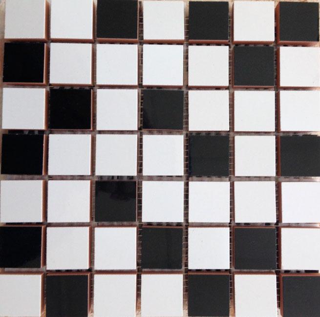 мозаика ceramika konskie andrea cream mosaic 20х20 Мозаика Ceramika Konskie Michelle mix White/black 20x20 (0,32)