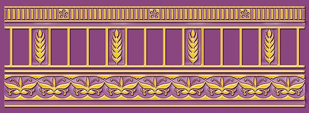 Бордюр Ceramique Imperiale Воспоминание фиолетовый (05-01-1-93-03-56-885-0) 9х25 бордюр ceramique imperiale агатовый фон 05 01 1 48 03 41 984 0 4х60