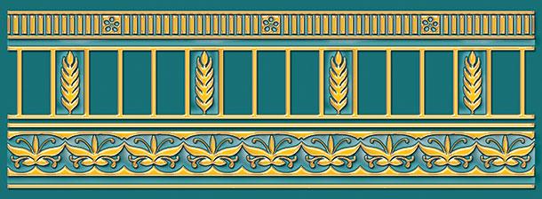 Бордюр Ceramique Imperiale Воспоминание бирюзовый (05-01-1-93-03-72-885-0) 9х25 бордюр ceramique imperiale агатовый фон 05 01 1 48 03 41 984 0 4х60