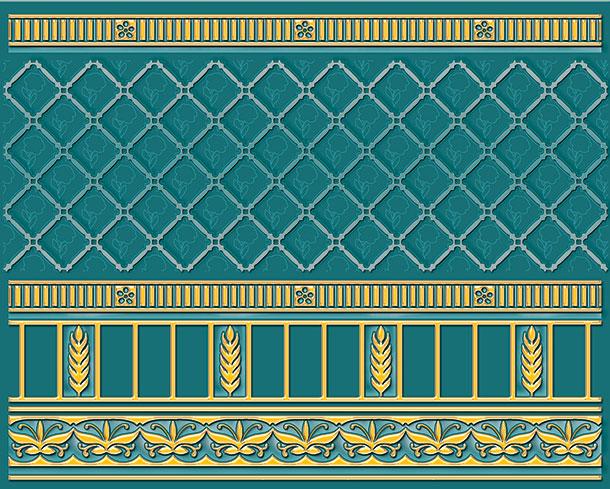 Бордюр Ceramique Imperiale Воспоминание бирюзовый (05-01-1-93-03-72-886-0) 20х25 бордюр ceramique imperiale агатовый фон 05 01 1 48 03 41 984 0 4х60