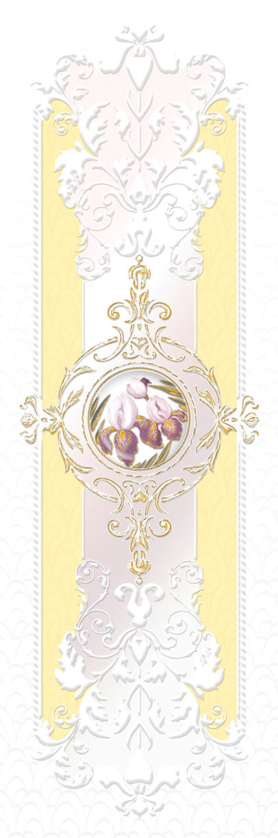 Декор Ceramique Imperiale Ирисы желтый (04-01-1-17-03-33-311-0) 20х60 eridan attimo декор чёрный 17 05 04 1172 0 20х60