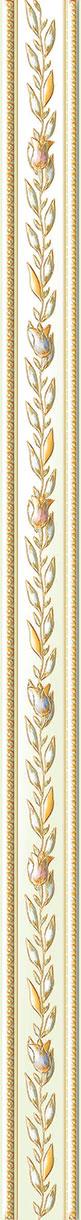 Бордюр Ceramique Imperiale Нефритовый фон многоцветный (05-01-1-48-03-81-930-0) 4х60 бордюр ceramique imperiale агатовый фон 05 01 1 48 03 41 984 0 4х60