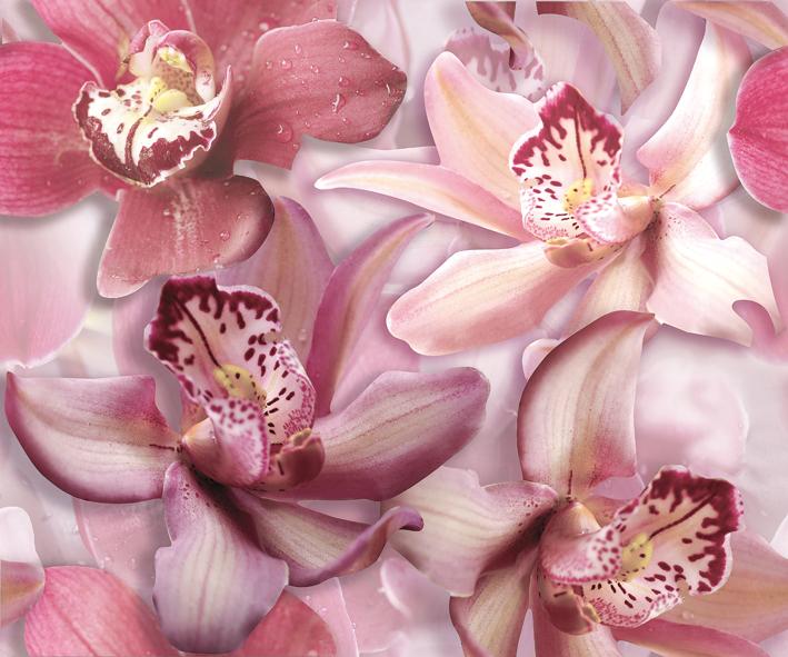 "Porto Flowers ""Orchid lila"" Панно 50x60 (2пл) панно ceracasa brazil deco rock flowers nieve 25x73 комплект"