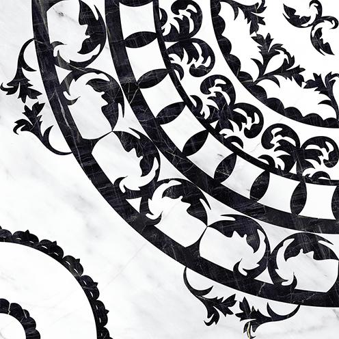 Oriental напольная вставка черно-белая (OE6R442DT) 42x42 папка comix франция а4 0 3 мм на 20 карманов
