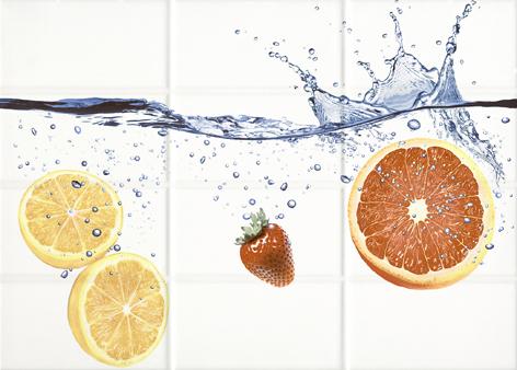 Mono Декор светло-бежевый апельсины (MY2M304D) 25x35 декор cersanit villa бежевый 25x35