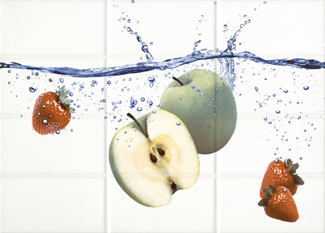 Mono Декор светло-бежевый яблоки (MY2M303D) 25x35 декор cersanit villa бежевый 25x35