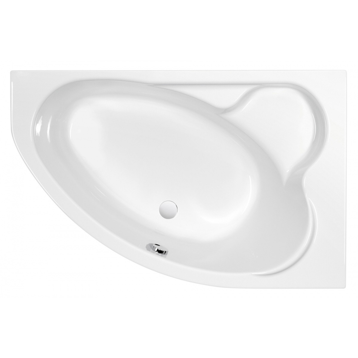 Акриловая ванна Cersanit Kaliope 153x100 правая фронтальная панель cersanit kaliope 170 правая p pa kaliope 170 r