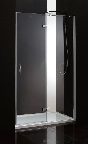 Душевая дверь Cezares Bergamo B12 90 C Cr R прозрачное стекло, профиль хром правая cezares душевая дверь в нишу cezares verona b12 90 p cr l