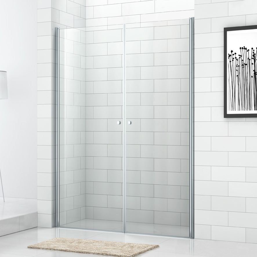 Душевая дверь Cezares Eco B 2 80 C Cr прозрачное стекло, профиль хром душевая шторка на ванну cezares eco eco o v 11 120 140 p cr r