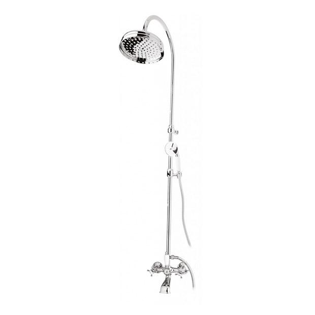 Душевая стойка Cezares Golf CVD-01-Bi душевая система belbagno slip со смесителем для ванны верхним и ручным душем ручки foglio хром sli doc crm foglio