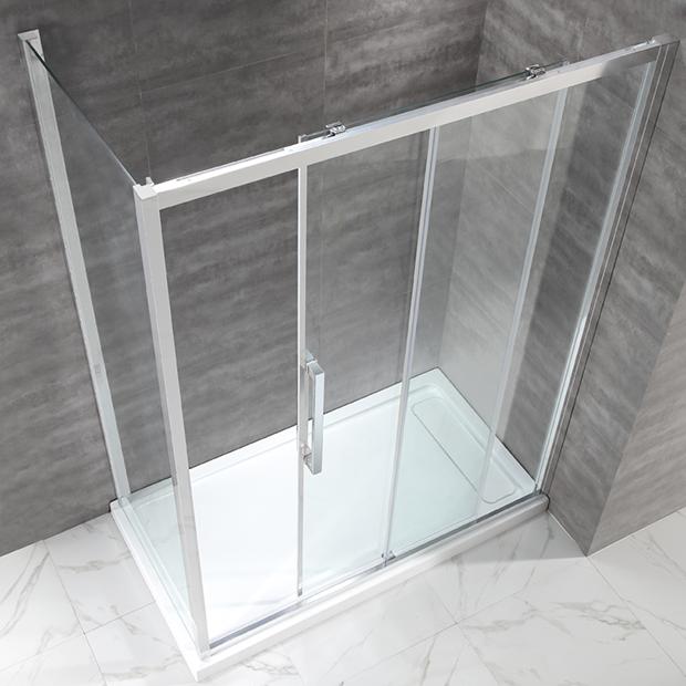 Душевой уголок Cezares LUX SOFT AH 1 120/90 C Cr прозрачное стекло, профиль хром IV душевая шторка на ванну cezares eco eco o v 11 120 140 p cr r