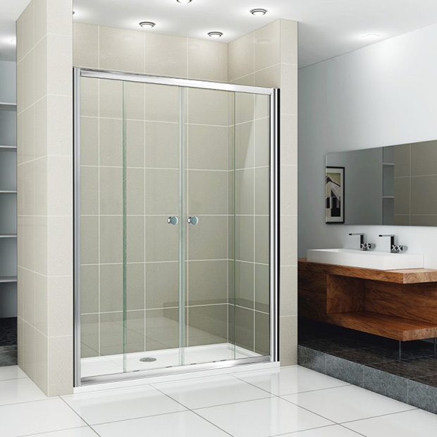 Душевая дверь Cezares PRATICO BF 2 180 C Cr прозрачное стекло, профиль хром душевая шторка на ванну cezares eco eco o v 11 120 140 p cr r