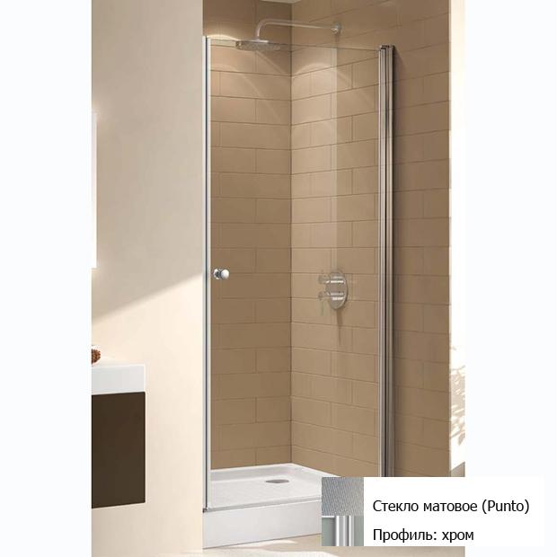 Душевая дверь Cezares ECO B 1 75 P Cr матовое стекло, профиль хром abs 1 75 3d 395m
