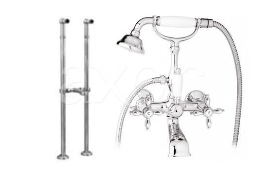 Смеситель Cezares Nostalgia VDPS-02-M для ванны кольцо отверстия перелива раковины cezares бронза czr rng br
