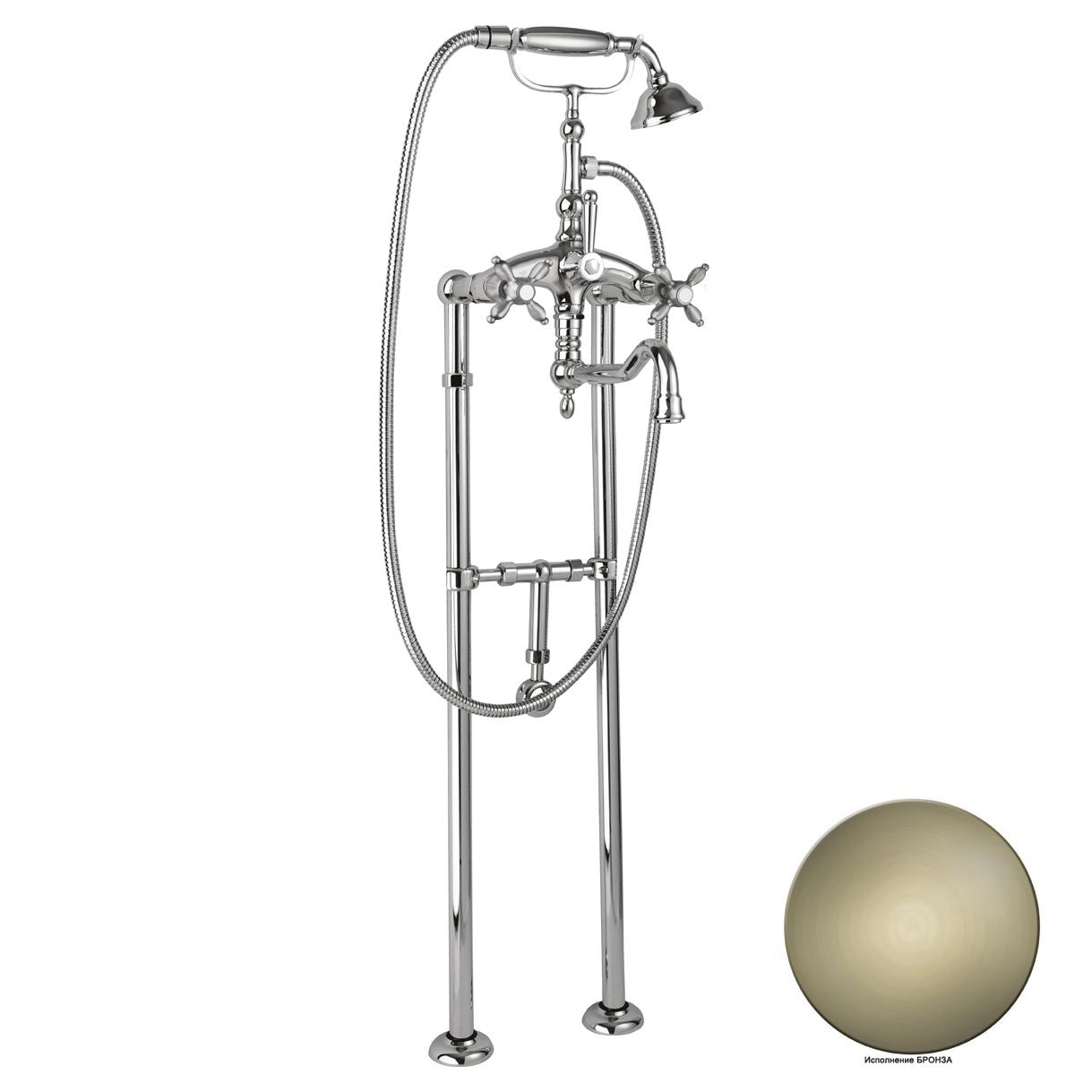 Смеситель Cezares Atlantis Nostalgia VDPS2-02 для ванны кольцо отверстия перелива раковины cezares бронза czr rng br