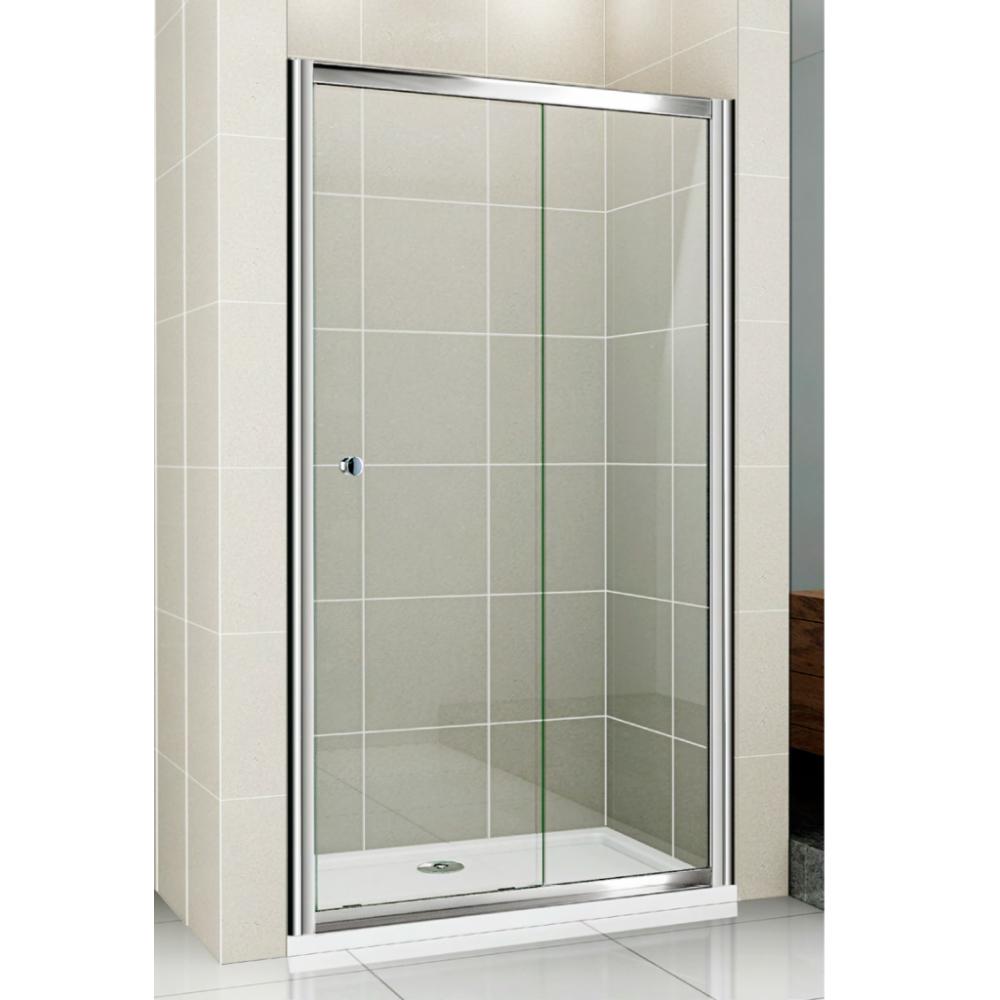 Душевая дверь Cezares Pratico BF1 130 C Cr прозрачное стекло, профиль хром душевая шторка на ванну cezares eco eco o v 11 120 140 p cr r
