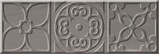 Bulevar Altair Grey Decor Декор 100x300 мм/16 вставка cifre ceramica bulevar taco altair vison 10x10