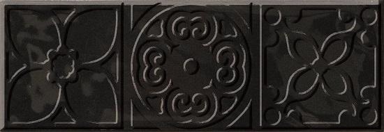 Bulevar Altair Black Decor Декор 100x300 мм/16 вставка cifre ceramica bulevar taco altair vison 10x10