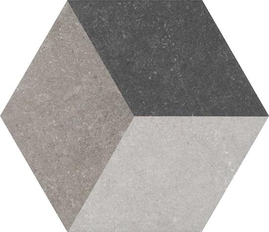 Traffic 3D Grey HEX 25 плитка напольная 250х220 мм/37,44
