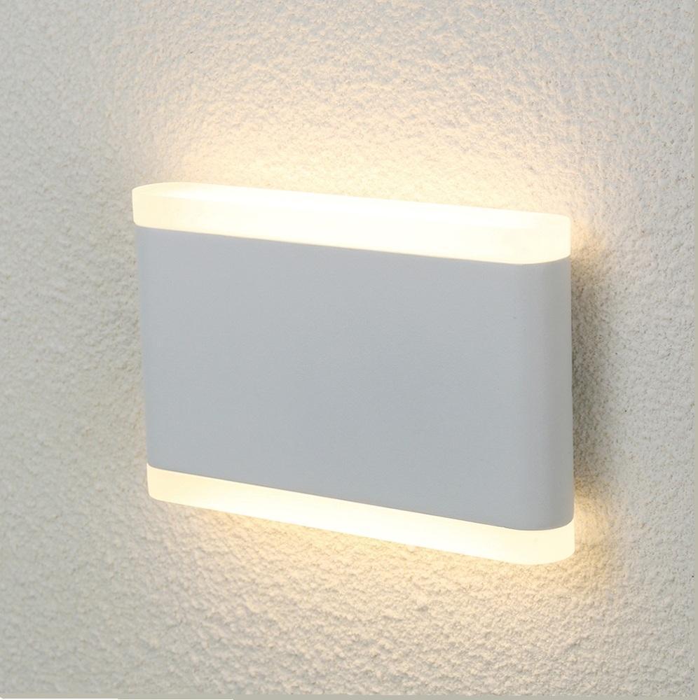Уличный настенный светодиодный светильник Crystal Lux CLT 024W175 WH crystal lux торшер crystal lux jewel pt2 wh