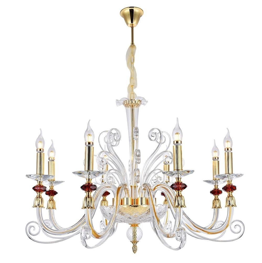 Люстра Crystal Lux Catarina SP8 Gold/Transparent-Cognac подвесная crystal lux подвесная люстра crystal lux catarina sp8 gold transparent cognac
