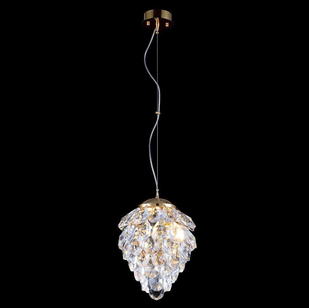 Подвесной светильник Crystal Lux Charme SP1+1 Led Gold/Transparent crystal lux uno sp1 transparent