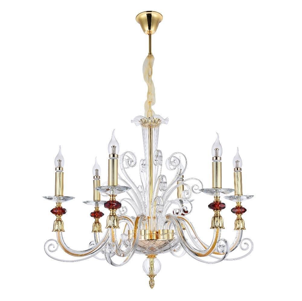 Люстра Crystal Lux Catarina SP6 Gold/Transparent-Cognac подвесная crystal lux подвесная люстра crystal lux ines sp6 gold transparent