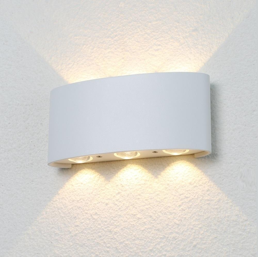 Уличный настенный светодиодный светильник Crystal Lux CLT 023W3 WH crystal lux торшер crystal lux jewel pt2 wh