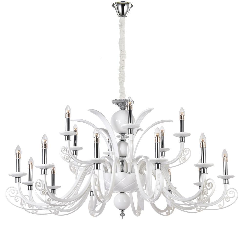 Подвесная люстра Crystal Lux Letisia SP12+6 White crystal lux подвесная люстра crystal lux alma white sp pl12 6 6